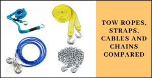 Tow Ropes, Straps, Cables and Chains Compared