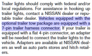 Nissan Armada Tow Package Specifications 1