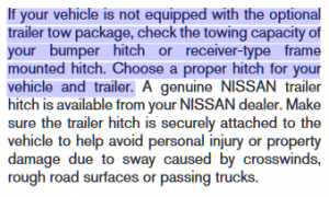 Nissan Armada Tow Package Specifications 3