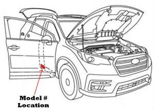 Subaru Ascent Model Number Location