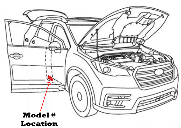 Subaru Ascent Model Number Location