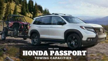 1994 2020 Honda Passport Towing Capacities
