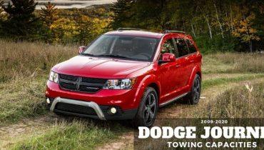 2009 2020 Dodge Journey Towing Capacities