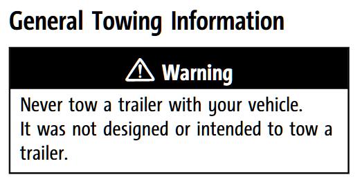 Buick Encore Towing Warning
