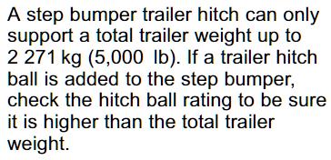 2020 Chevy Colorado Step Bumper Hitch Warning