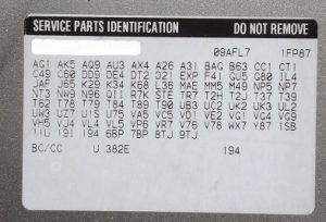 Silverado 1500 Rpo Codes Example