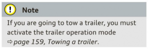 Trailer Operation Mode