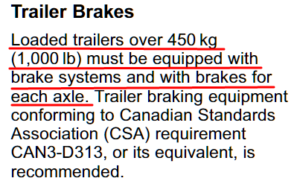 Acadia Trailer Brake Recommendation