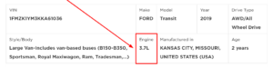 Ford Transit Engine Lookup