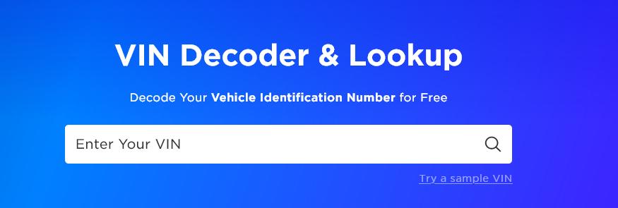 VIN Decoder Site