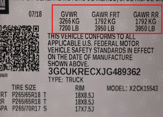 Chevy Certification Label