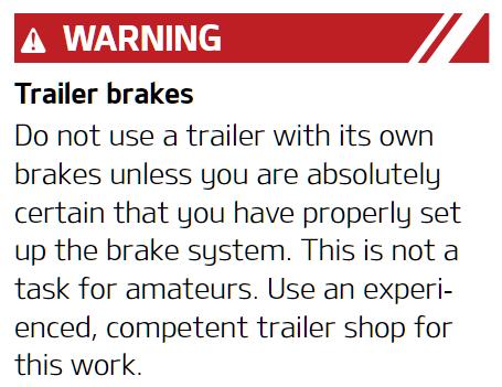 Trailer Brake Warning