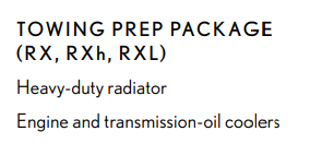 Towing Prep Package Example